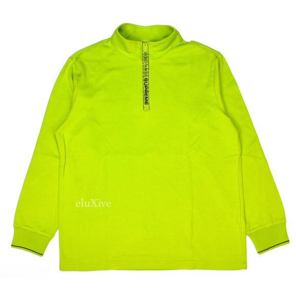 Supreme - Lime 'World Famous' Logo Pullover