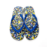 Fendi - Multicolor Granite Print Flip Flops