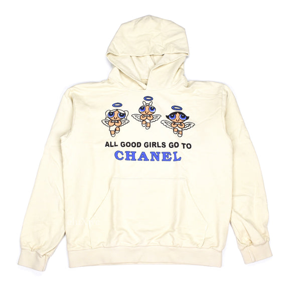 Mega Yacht - Good Girls 'Chanel/Gucci' Logo Hoodie (Beige)