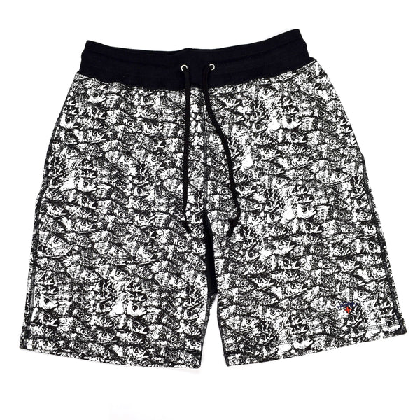 Noah - White 'Enjoy Life' Fish Print Shorts