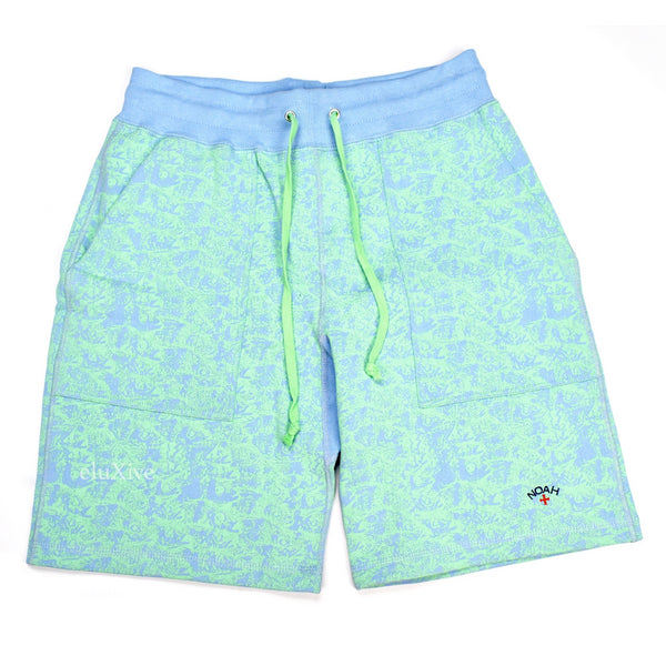 Noah - Blue 'Enjoy Life' Fish Print Shorts