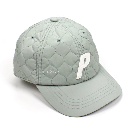 Palace - Warm Dome Shell Quilted P-Logo Hat (Eggshell)