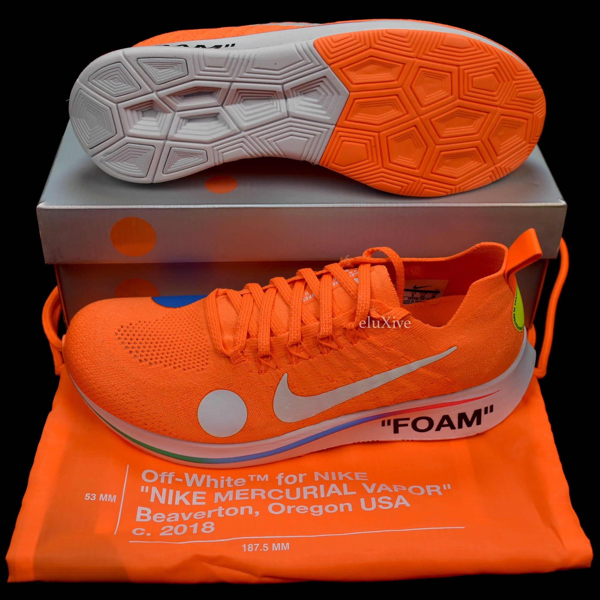 1555df1172b5 Nike x Off-White - Men's Zoom Fly Mercurial FK Low (Orange) – eluXive