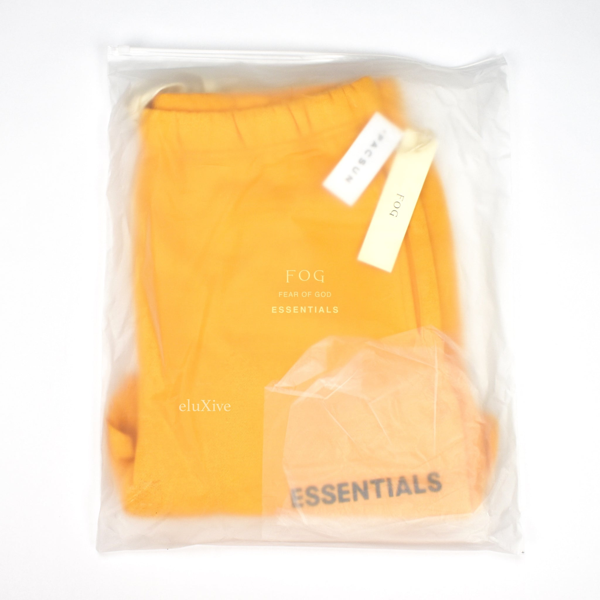 Fear of God - Essentials Yellow Fleece Logo Shorts