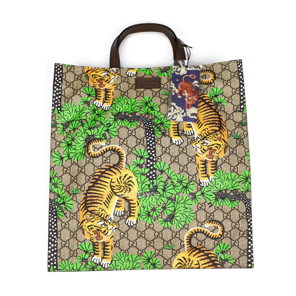 Gucci - GG Supreme Tiger Print Tote Bag
