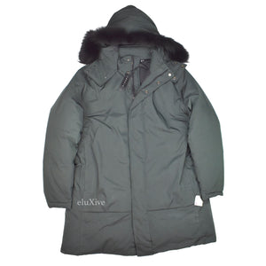 Theory - Emerald Green Fur Hooded Parka