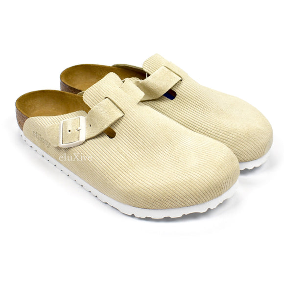 Stussy x Birkenstock - Boston BS Suede Sandals (Bone)