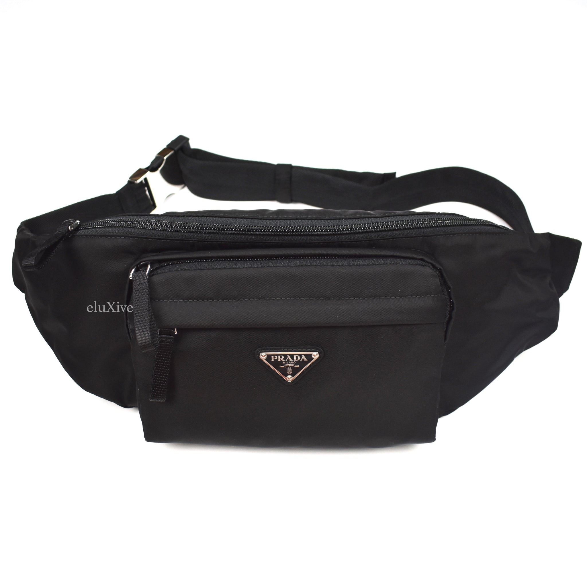 Prada - Black Nylon Logo Waist Bag