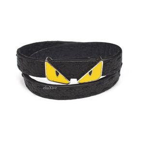 Fendi - Reversible Leather 'Monster' Bracelet