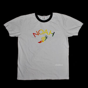 Noah - White Rainbow Winged Foot Logo T-Shirt