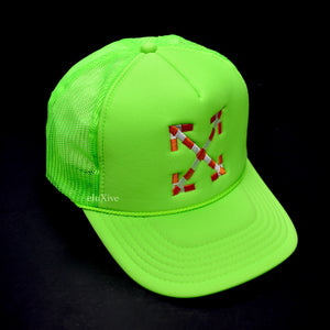 Virgil Abloh x MCA - Arrows Logo Trucker Hat (Green)