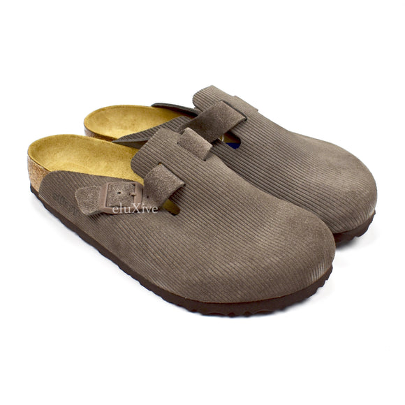 Stussy x Birkenstock - Boston BS Suede Sandals (Anthracite)