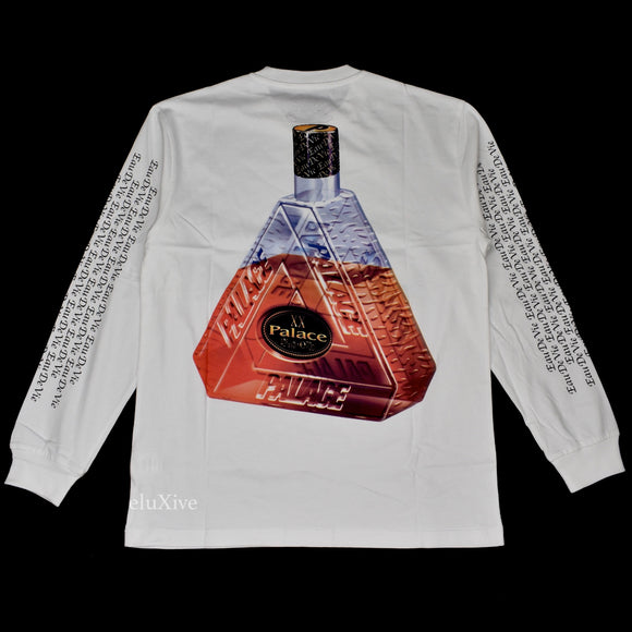 Palace - Remy XO Bottle Logo L/S T-Shirt (White)