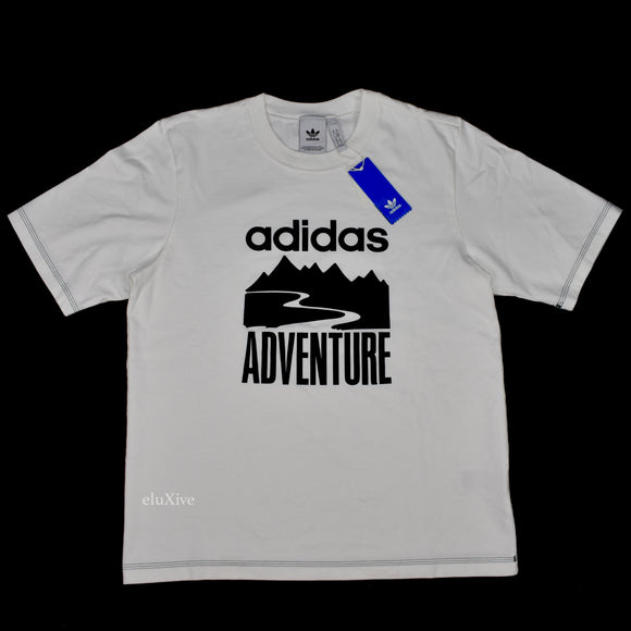 Adidas - 'Adventure' Logo Heavy Knit T-Shirt