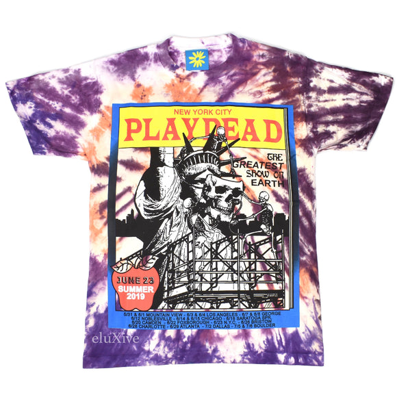Online Ceramics - Tie-Dye 'Playdead' Summer Tour T-Shirt