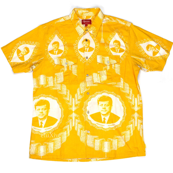 Supreme - Yellow JFK Print S/S Button Down Shirt