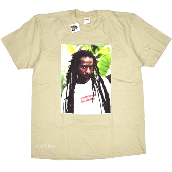 Supreme - Buju Banton Box Logo Photo T-Shirt (Clay Tan)
