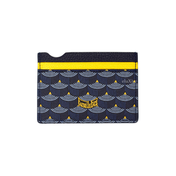 Faure Le Page - Paris Blue / Yellow 4CC Card Holder (2019)