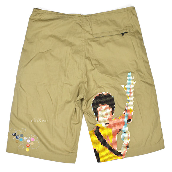 Maharishi - Bruce Lee 'Game of Death' Embroidered Shorts