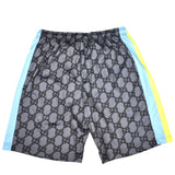 Imran Potato - Gray 'Gucci' Logo Print Shorts