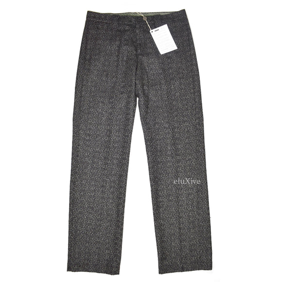 Corneliani - Black / White Woven Wool Pants