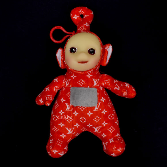 Imran Potato - Red LV Logo 'Po' Teletubby Plush Keychain
