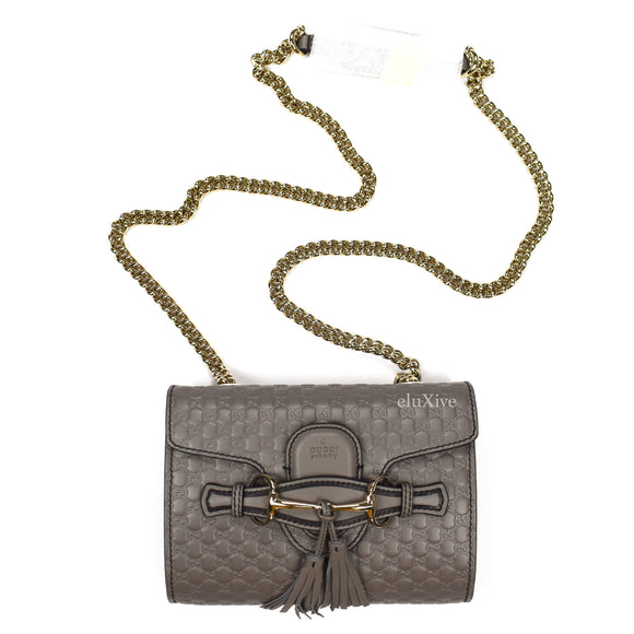 Gucci - Gray Guccissima Logo Horsebit 'Emily' Bag (S)
