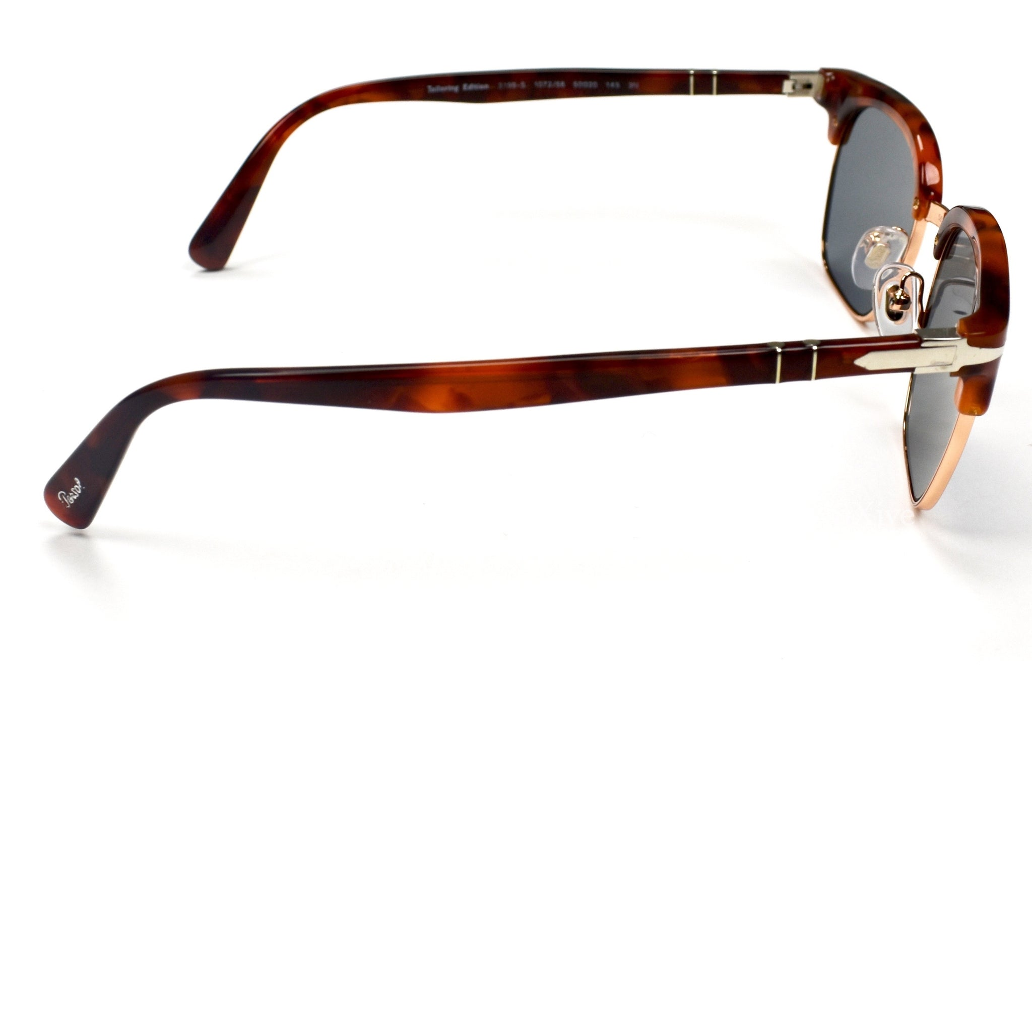 NWT $350 Persol Men/'s 3199-S Clubmaster Sunglasses Brown Tortoise Blue AUTHENTIC