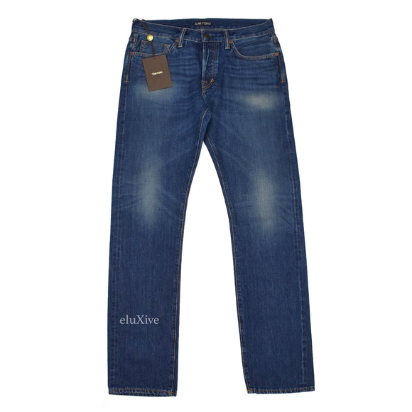 Tom Ford - Dark Blue Made in USA Selvedge Jeans