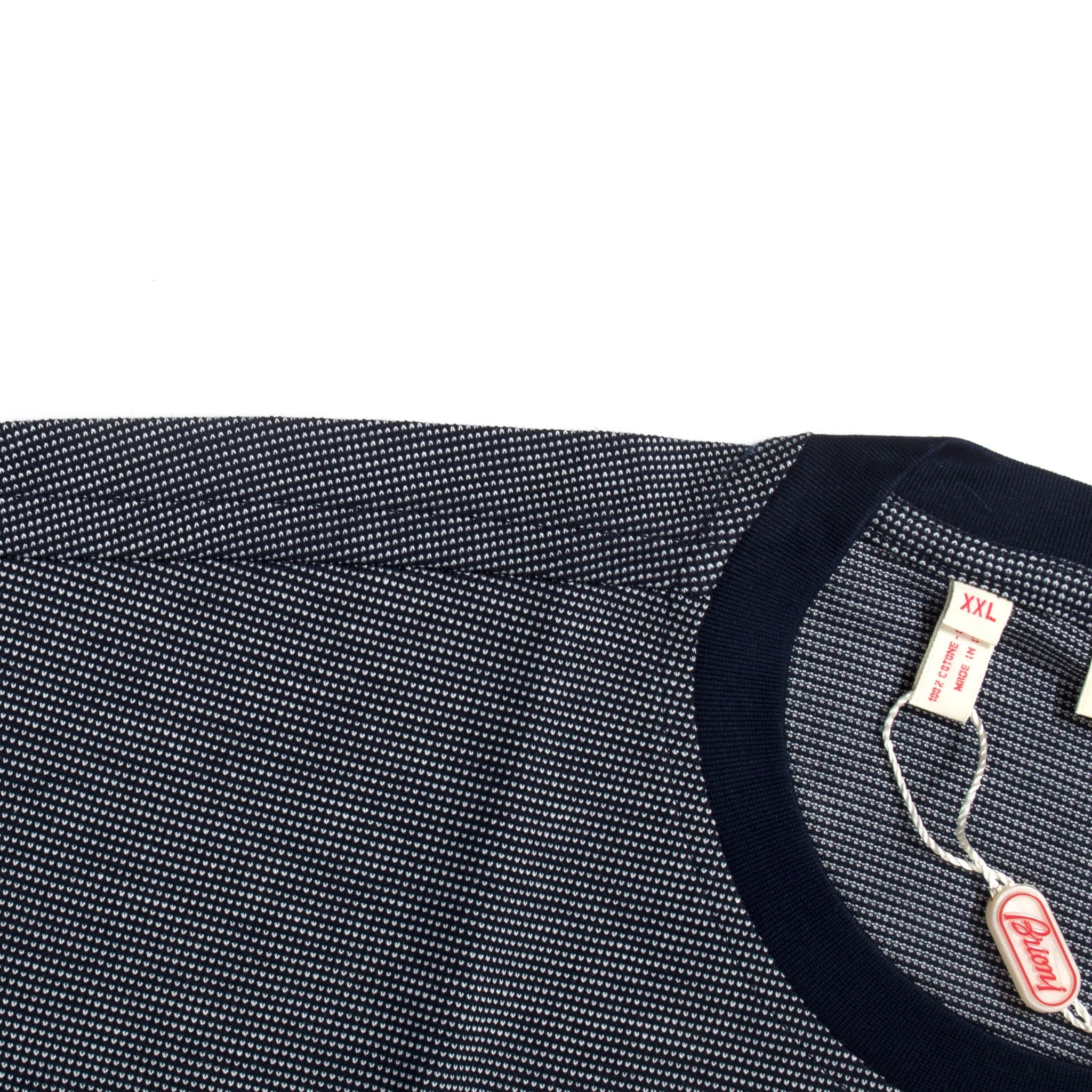 Brioni - Navy & White Pique Knit T-Shirt
