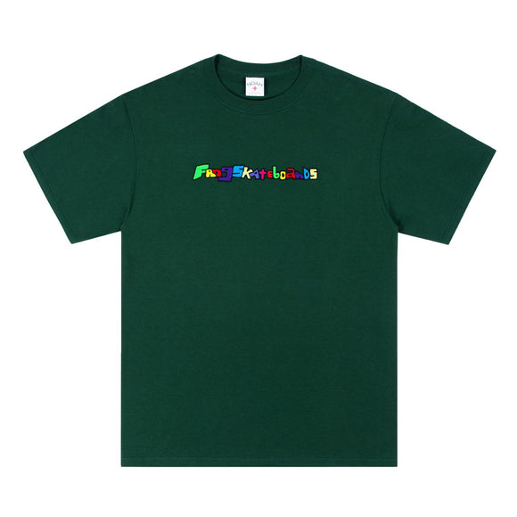 Noah x Frog Skateboards - Logo Embroidered T-Shirt (Dark Green)