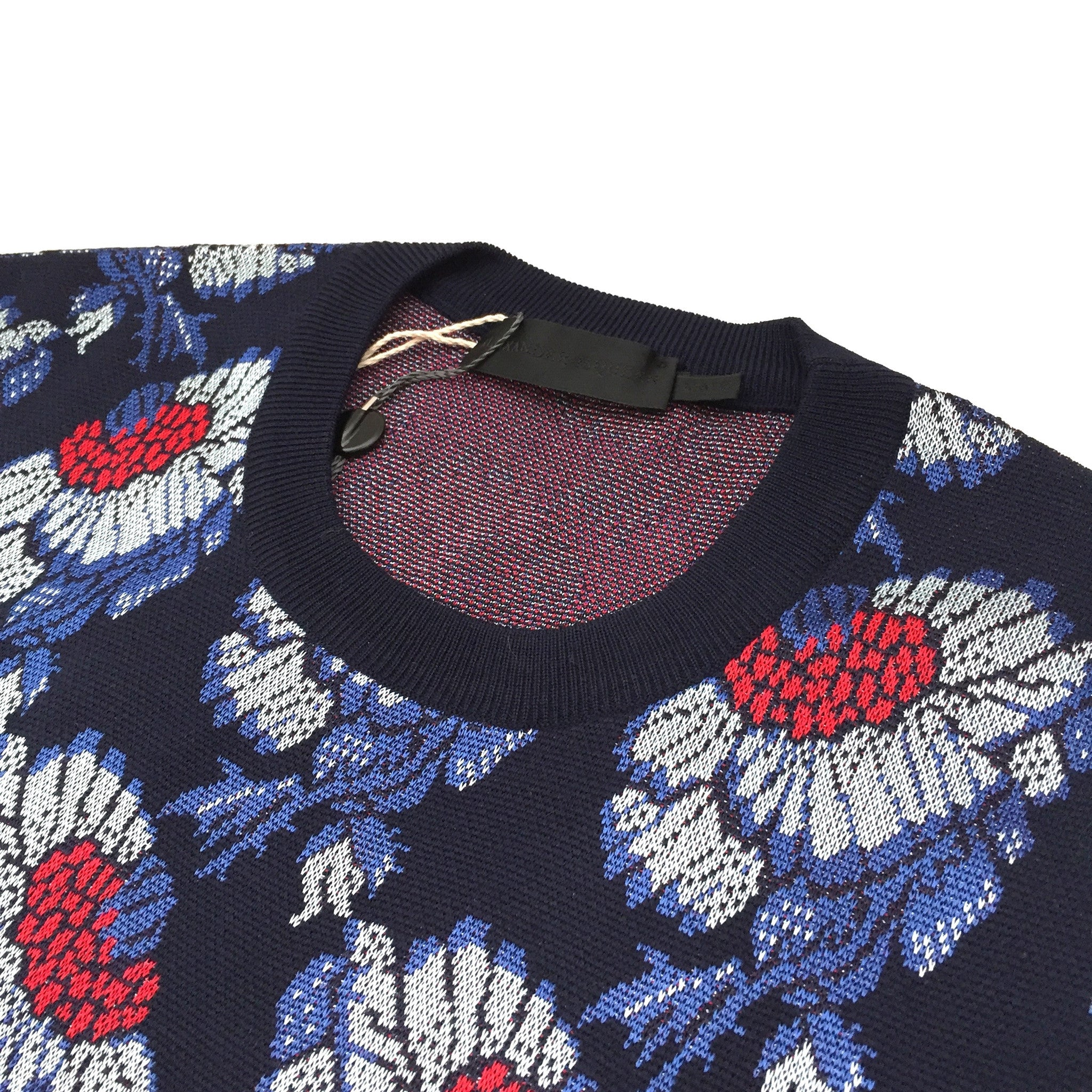 Alexander McQueen - Jacquard Knit Floral Sweater