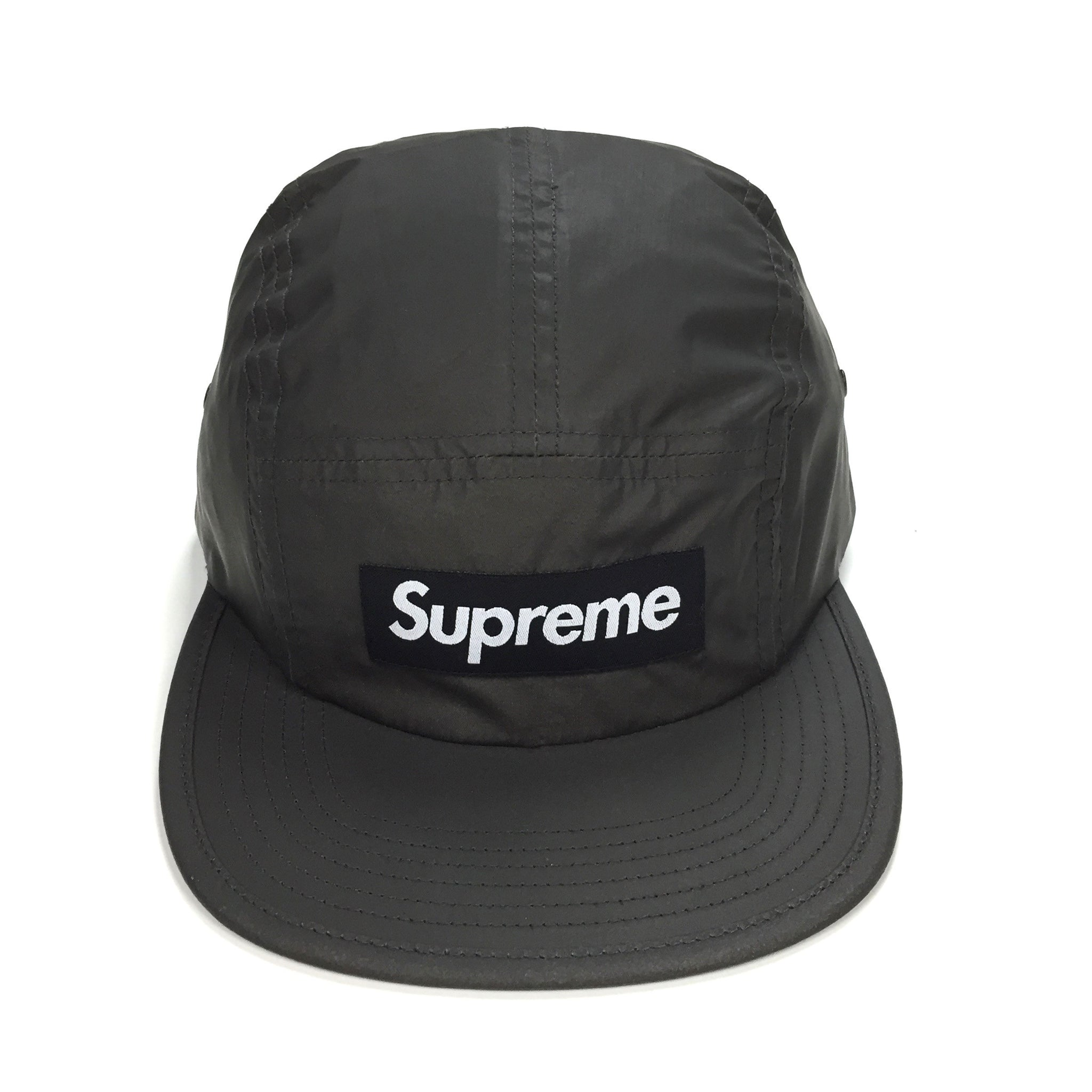 Supreme - Black 3M Reflective Tonal Box Logo Camp Cap   Hat – eluXive 1e4748f35c7