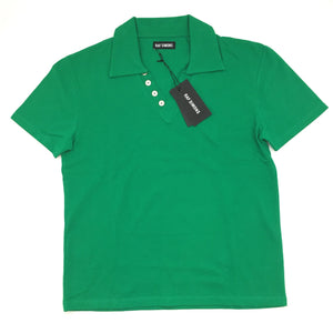 Raf Simons - Green V-Neck Polo