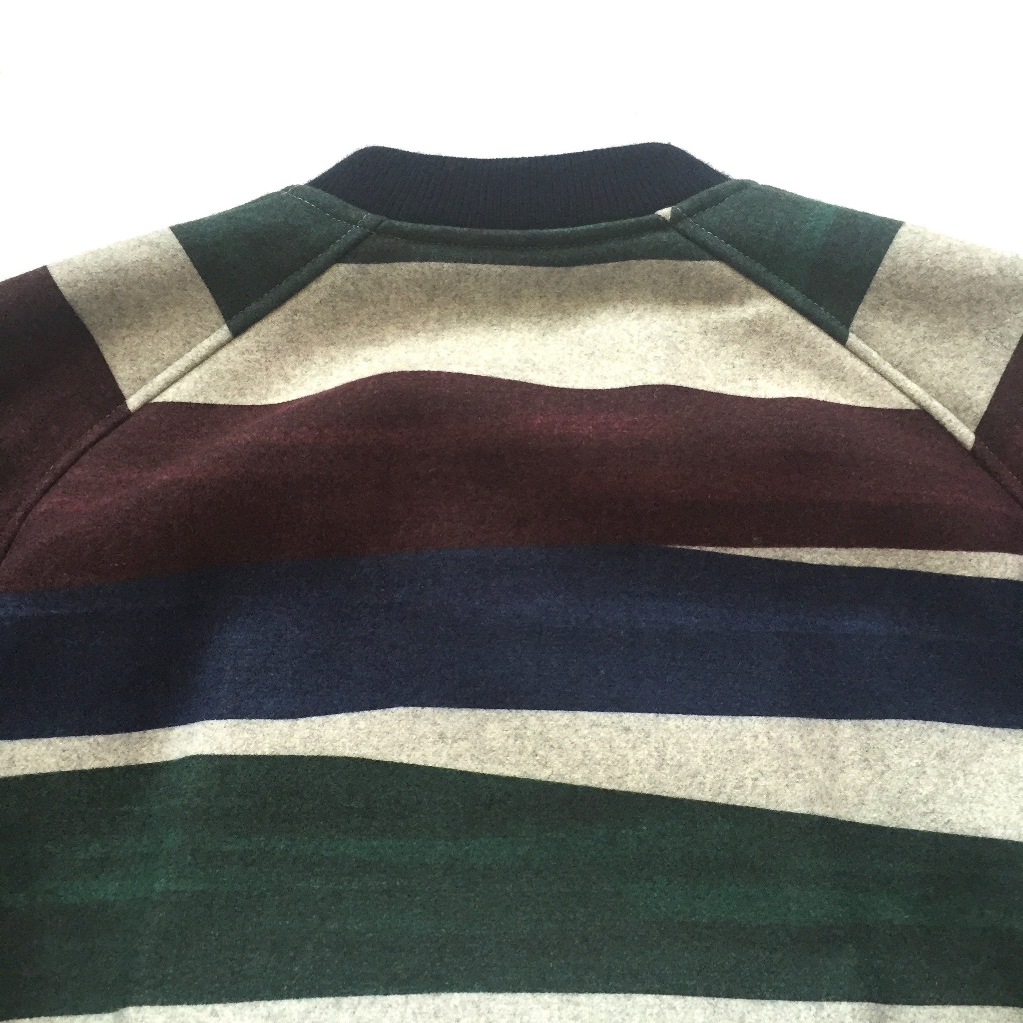 Carven - Striped Wool Bomber Jacket