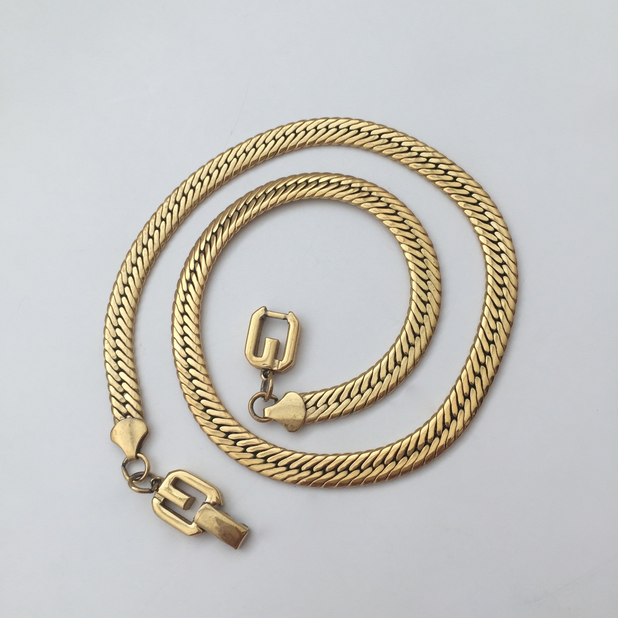 "Givenchy - 18.25"" Gold Chain Necklace"