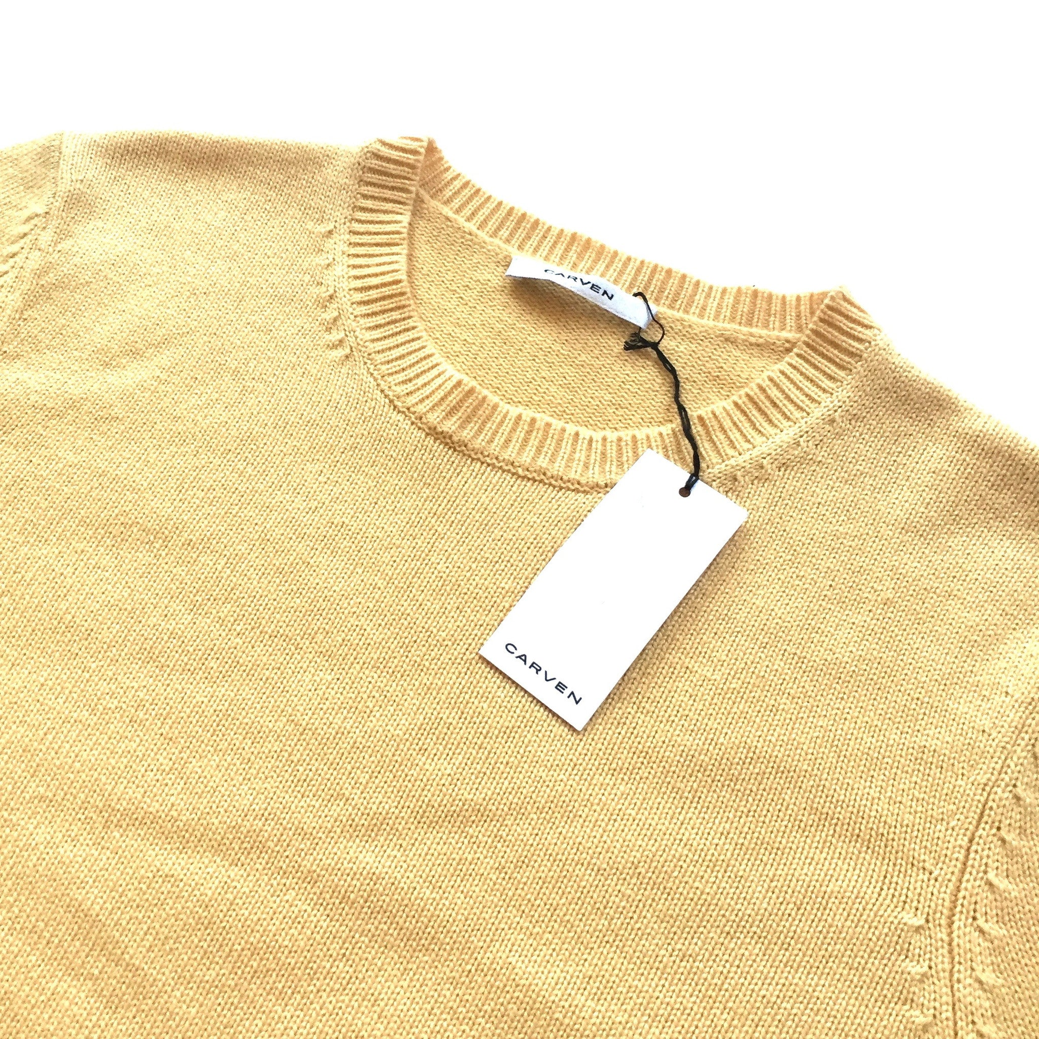 Carven - Beige Wool Embroidered Logo Sweater