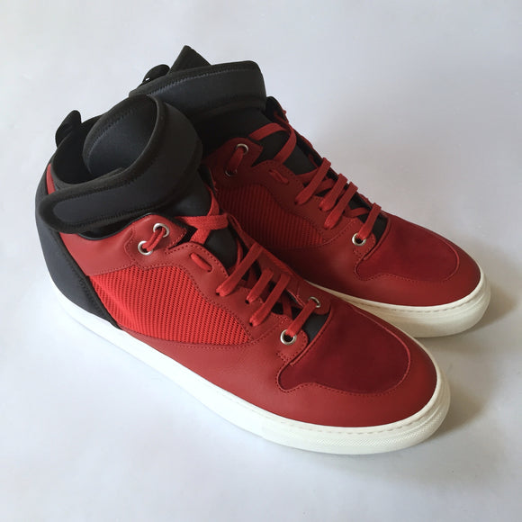 Balenciaga - Leather & Neoprene Mid Top Sneakers
