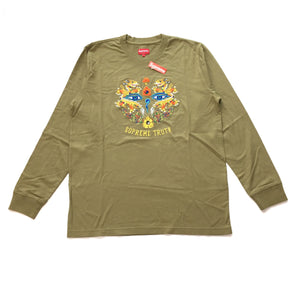 Supreme - Olive 'Truth' Embroidered L/S T-Shirt