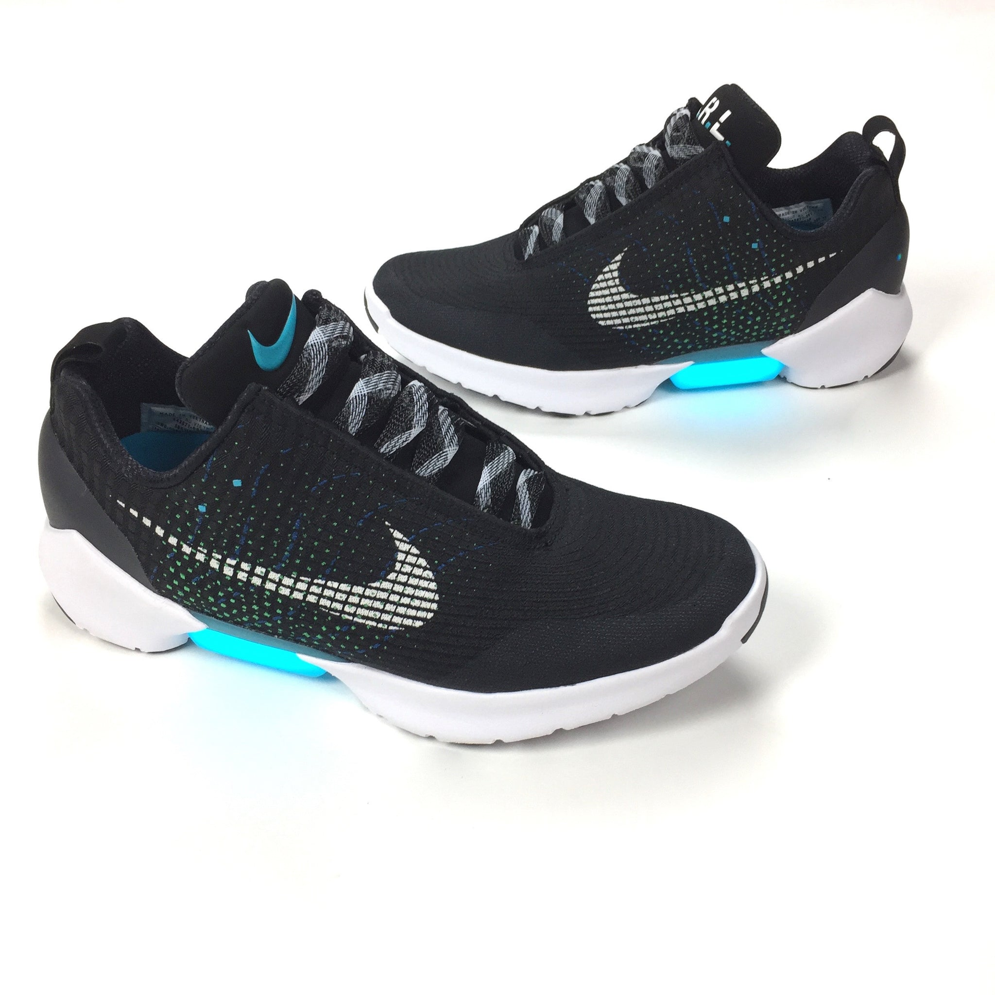 Nike - Men s Hyper Adapt 1.0 OG Black   White   Blue Lagoon E.A.R.L ... 5bcd6d066