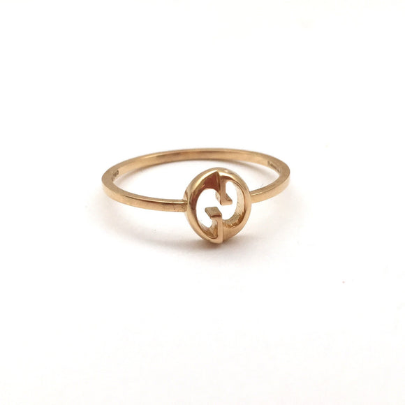 Gucci - Solid 18K Gold Logo Ring