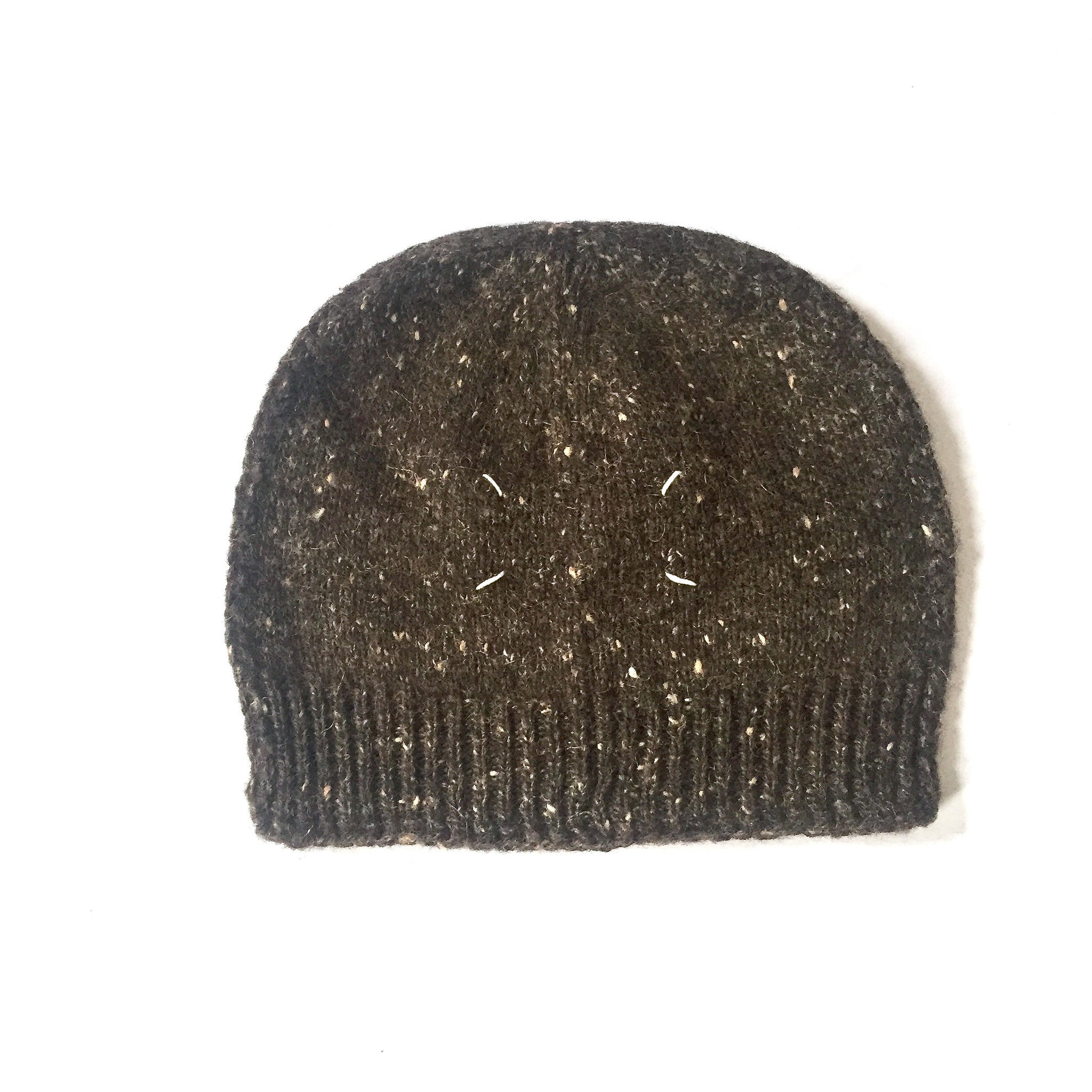 0d04cd76f82 Maison Margiela - Men s Brown Flecked Wool Knit Beanie Hat – eluXive
