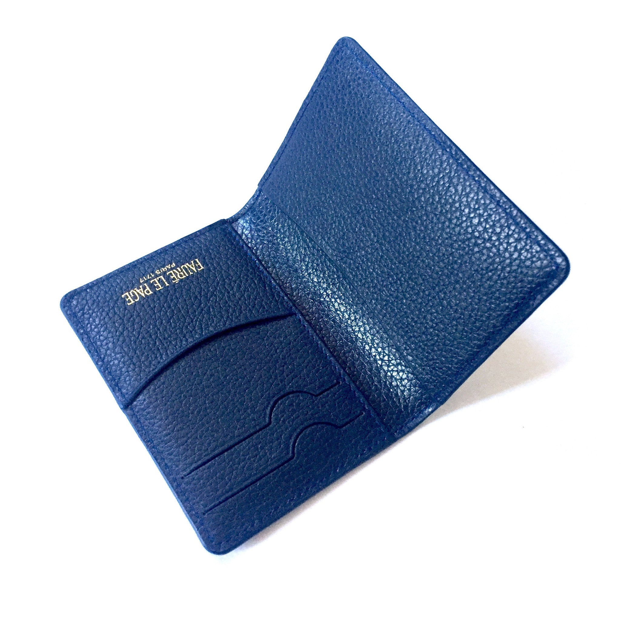 Faure Le Page - Paris Blue Mini Bifold Wallet