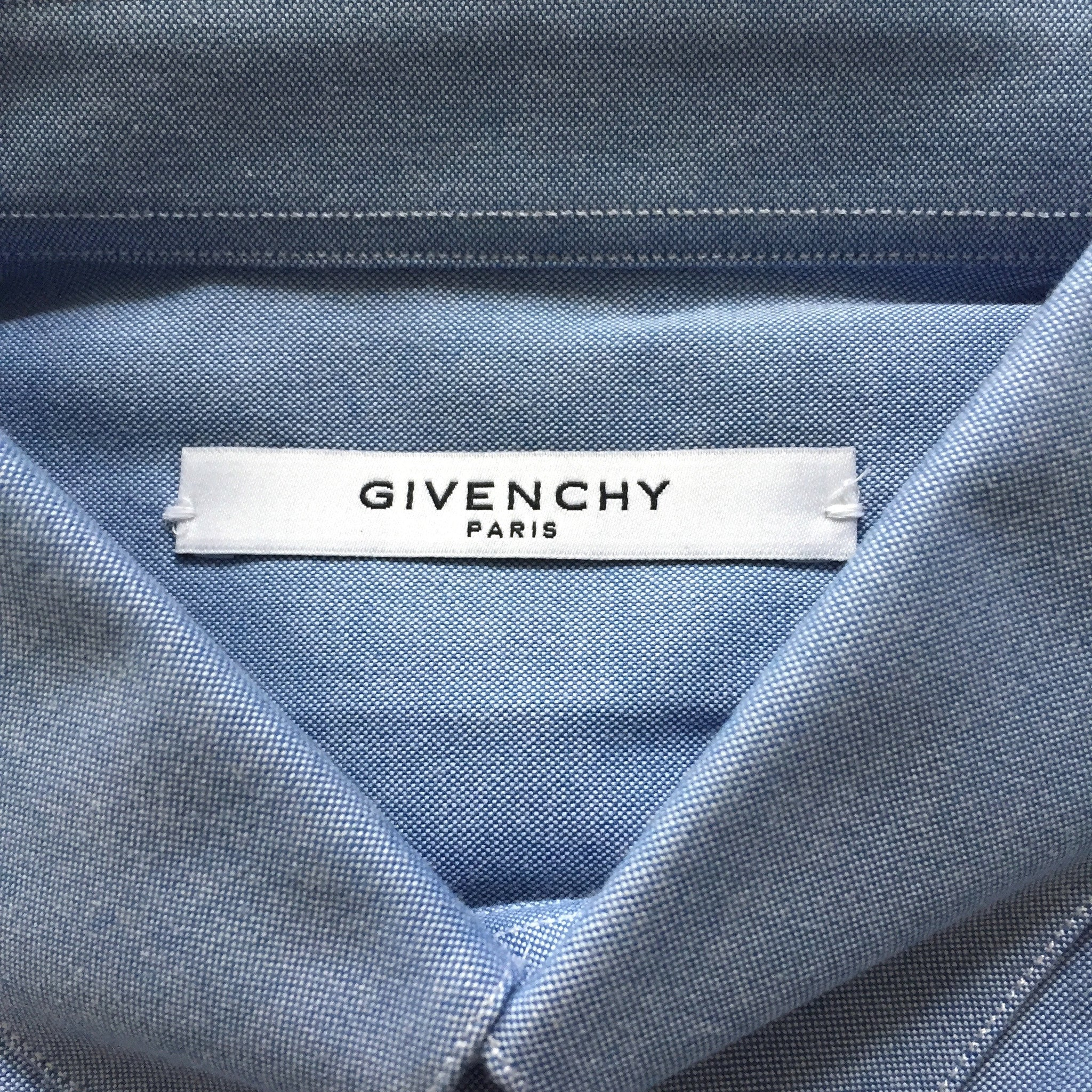 Givenchy - Cross Embroidered Chambray Shirt