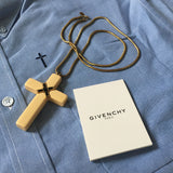 Givenchy - 1976 Runway Cross Pendant Necklace