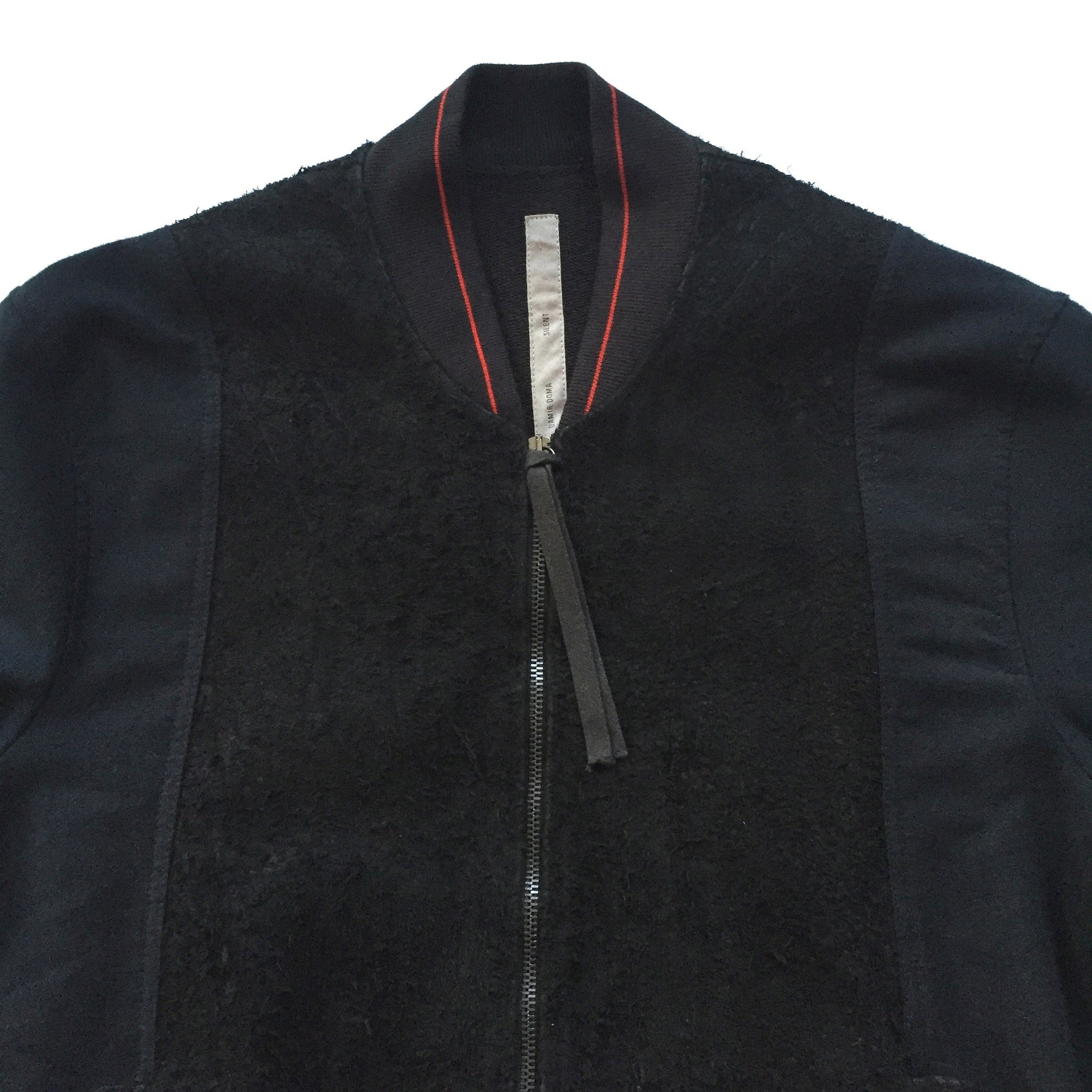 Damir Doma - Distressed Suede Bomber Jacket