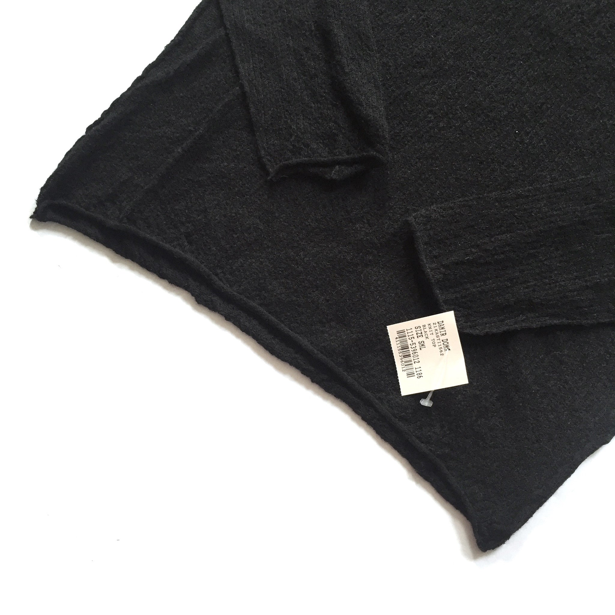 Damir Doma - Black Crepe Knit Sweater