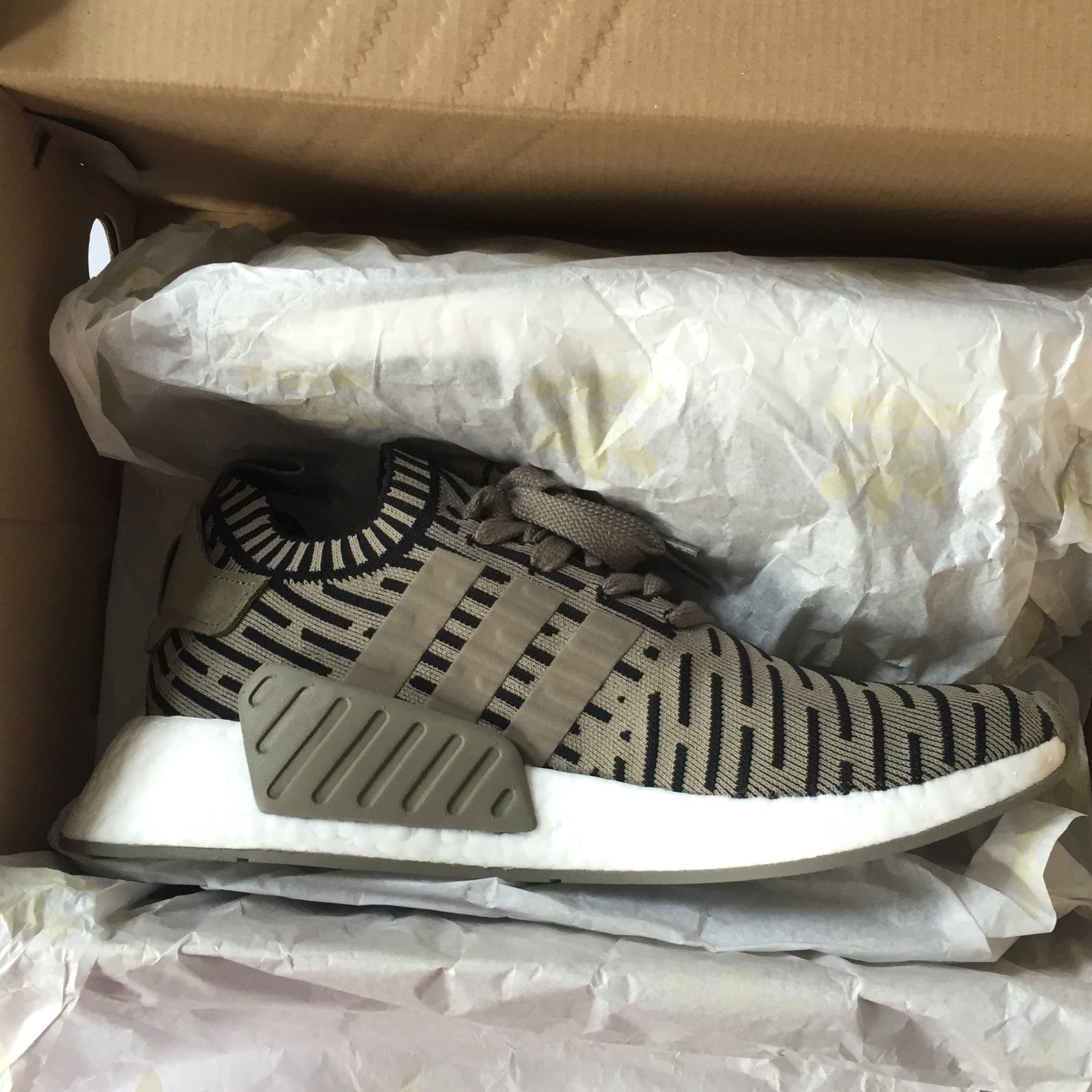 def23bb44715e Adidas - Men s NMD R2 PK Olive Green Nomad Primeknit Boost Sneakers ...