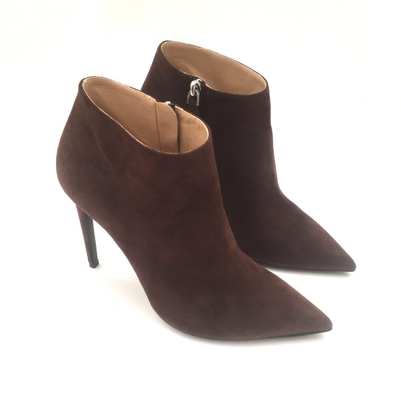 Ralph Lauren - Brown Suede Ankle Boot Heels