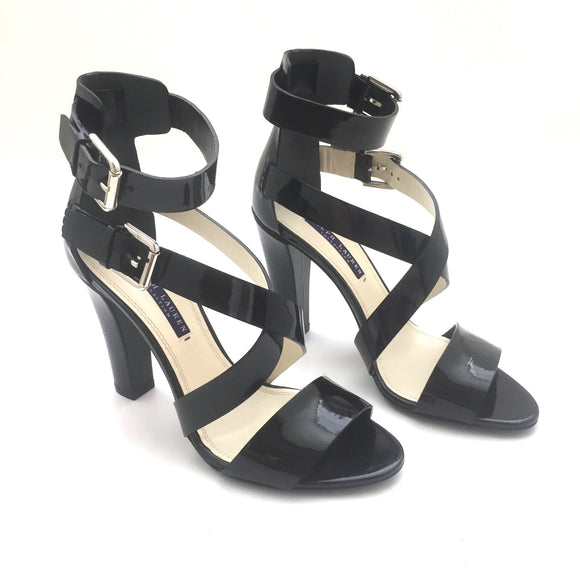 Ralph Lauren - Black Patent Leather 'Kairo' Heels